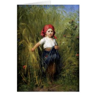Hälsningskort med Heinrich Hirt målning