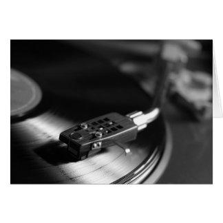 Hälsningskort: Vinyl på en turntable Hälsningskort