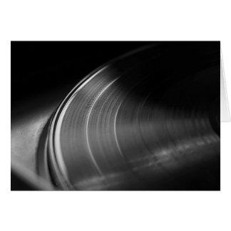 Hälsningskort: Vinylrekord och Turntable Hälsningskort