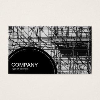 Halv-cirkla material till byggnadsställning för visitkort