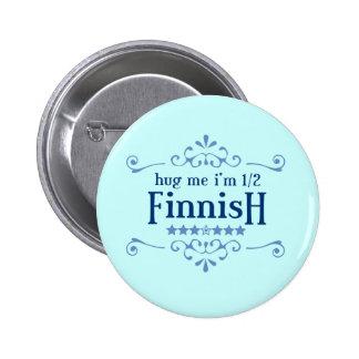 Halv finska standard knapp rund 5.7 cm