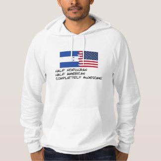 Halv honduransk fullständigt fantastisk sweatshirt med luva
