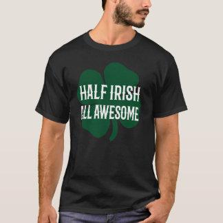 Halv irländare för roliga Sts Patrick dag T Shirt