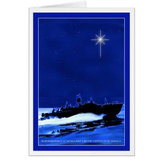 Halv liter-fartyg ChristmasCard 1 Hälsningskort