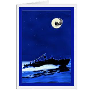 Halv liter-fartyg ChristmasCard 4 Hälsningskort