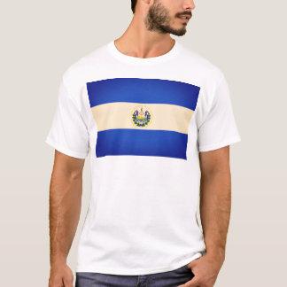 Halv polariserad El Salvador flaggaT-tröja T-shirts