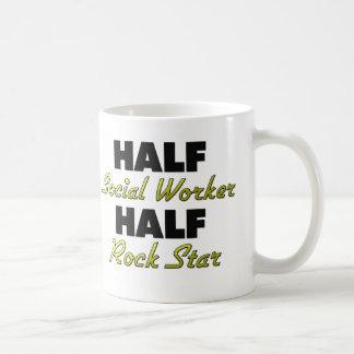 Halv rockstjärna för halv socialarbetare kaffemugg