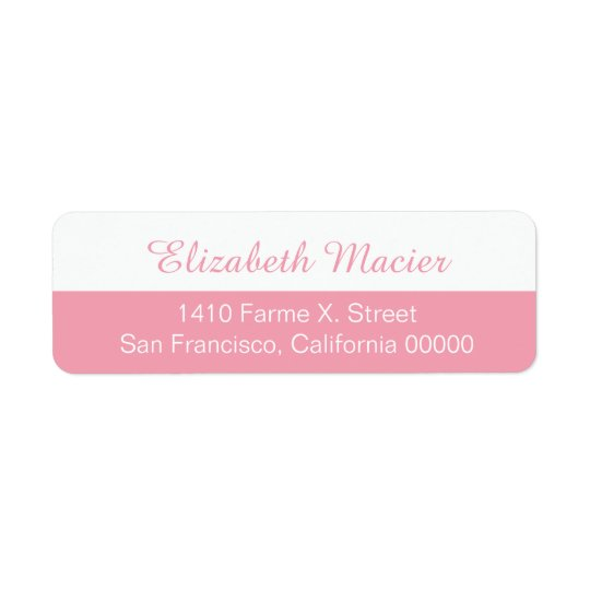 halv rosa kvinnlig adressetikett med ditt namn
