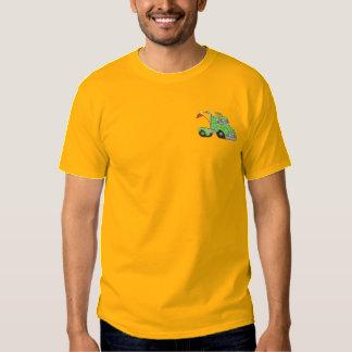 Halv tävla broderad t-shirt