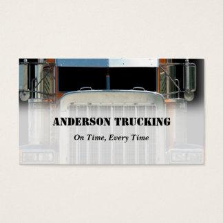 Halv visitkort för lastbilfraktleverans