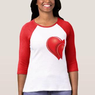 halva en hjärtavalentin t-skjorta för dag design t shirts