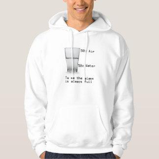 Halvfullt exponeringsglas tröja med luva