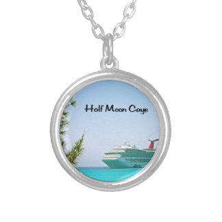 Halvmåne Caye Bahamas Silverpläterat Halsband