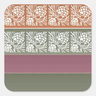 Halvt förbigå +  Holistic färgraster för mönster n Fyrkantigt Klistermärke
