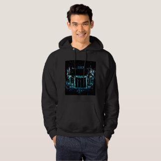 Halvt på svart bakgrund sweatshirt med luva