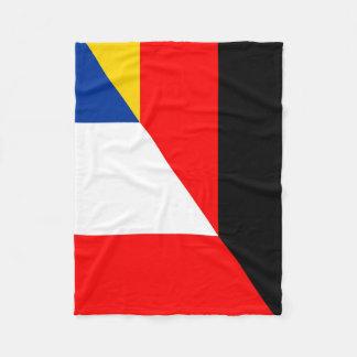 halvt symbol för tysklant frankrikeflaggaland fleecefilt
