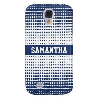 Halvtonen pricker personligen 3G (blått) Galaxy S4 Fodral