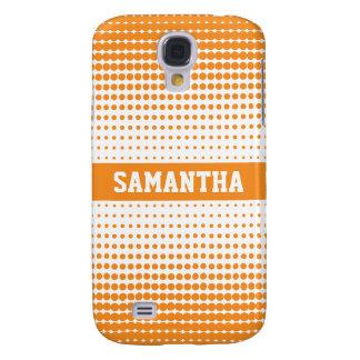 Halvtonen pricker personligen 3G (orangen) Galaxy S4 Fodral