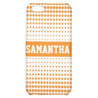 Halvtonen pricker personligen (orangen) iPhone 5C mobil skydd