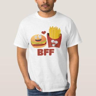 Hamburgare- och småfiskbästa vänför evigt t-shirts