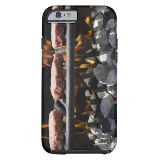 Hamburgare som lagar mat på, grillar tough iPhone 6 fodral