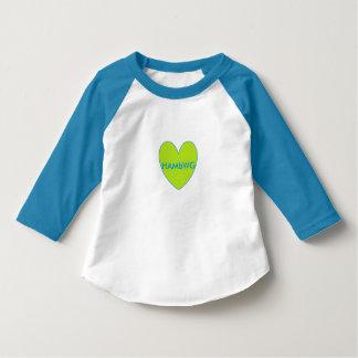 HAMbWG 3/4 Raglan T - limefrukthjärta för sleeve T Shirts
