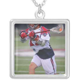 HAMILTON KANADA - AUGUSTI 6: Kevin Buchanan #27 Silverpläterat Halsband