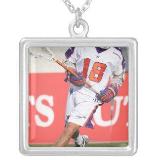 HAMILTON KANADA - JULY1:  Jarrett Davis #18 3 Silverpläterat Halsband