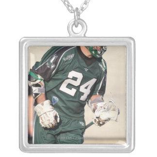 HAMILTON KANADA - JULY1:  John anslags- jr. #24 Silverpläterat Halsband