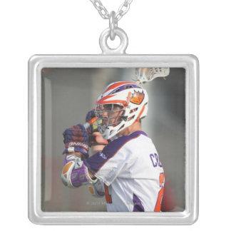 HAMILTON KANADA - JULY1:  Kevin Crowley #21 Silverpläterat Halsband