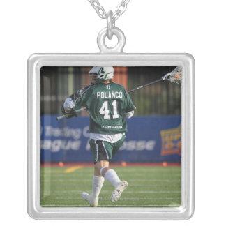 HAMILTON KANADA - JULY1:  Nicky Polanco #41 Silverpläterat Halsband