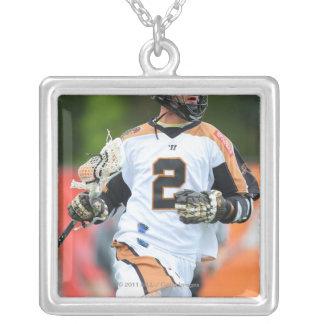 HAMILTON KANADA - JUNI 25: Ned Crotty #2 7 Silverpläterat Halsband