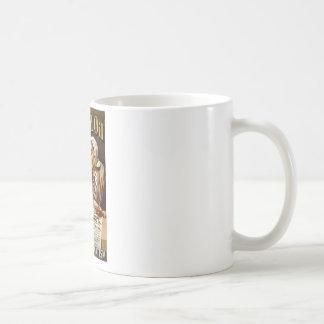 Hamlins annons för trollkarlolja kaffemugg