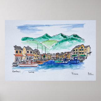 Hamn av Centuri | Corsica, frankrike Poster