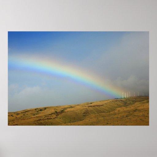 hamn maui för regnbågemorsaalaea affisch