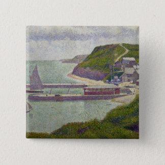 Hamn på Port-en-Bessin på kicktiden, 1888 Standard Kanpp Fyrkantig 5.1 Cm