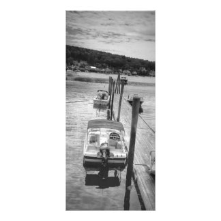 "HamnBoothbay hamn Maine 4"" x 9"" Rackcard Anpassade Rackkort"