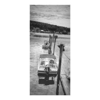 "HamnBoothbay hamn Maine 4"" x 9"" Rackcard Reklamkort"