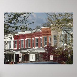 Hampden Rowhouse foto på kanfas Print