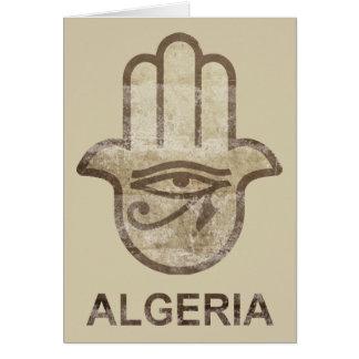 Hamsa Algeriet Hälsningskort
