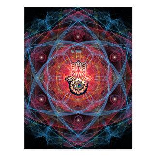 Hamsa - CHAI - sakral geometri Vykort