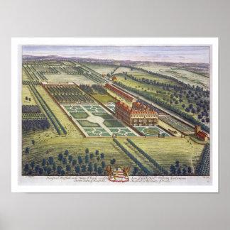 Hamstead Marshall i länet av den Berkshire engraen Poster