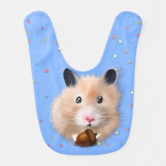 Hamster med ekollonen på baby med hakklapp