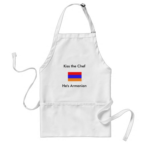 Han är armenisk, kysser kocken förkläden