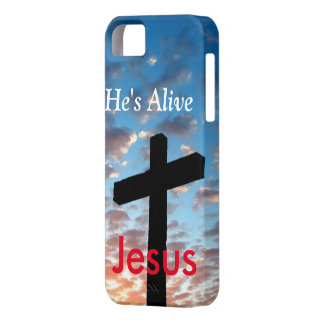 Han är vid liv Jesus Barely There iPhone 5 Fodral