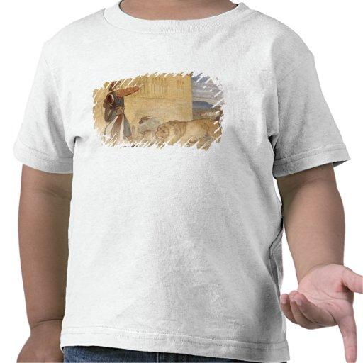Han behandlade lejon som, fast han skojade tröja