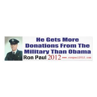 Han får mer donationer från militär än Obama Fotokonst