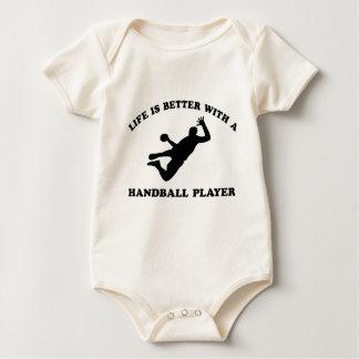 Hanball vektordesigner bodies för bebisar