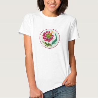 Hand broderade ljus blomma 3 tee shirts