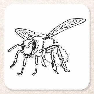 Hand plockade till biet underlägg papper kvadrat